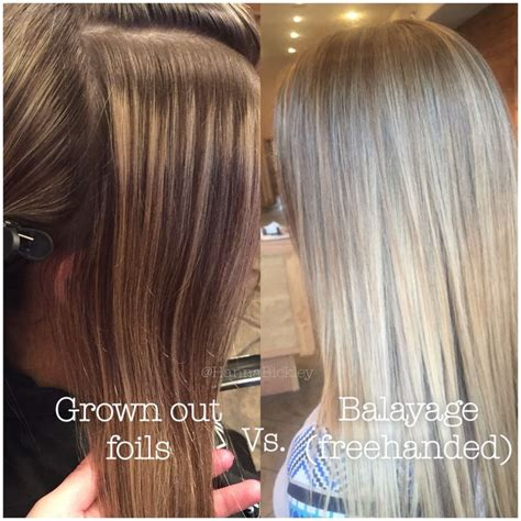 how many packets between a full hair foil and a partial foil balayage vs regular highlights