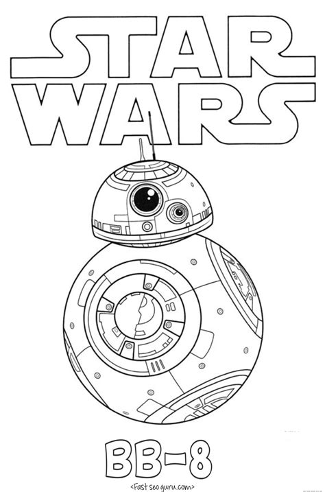 Lego Bb 8 Coloring Page | star wars the force awakens bb 8 coloring pages free