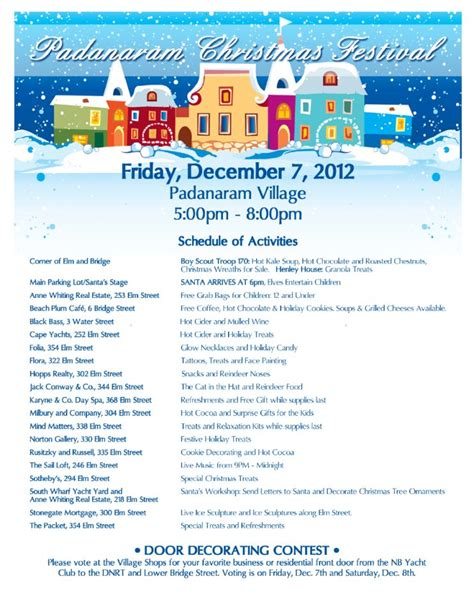 christmas contest voting flyer new bedford 2012 schedule new bedford guide