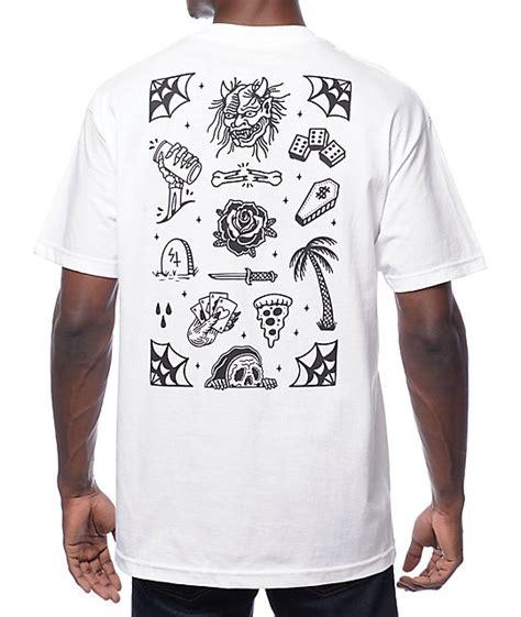 tattoo flash shirt sketchy tank flash white t shirt zumiez