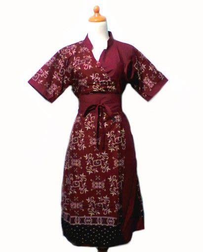 Dress Batik Busana Batik Wanita Setelan Batik Dress Batik Set dress batik db047 baju batik wanita modern
