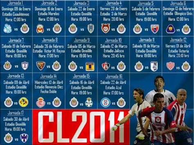 Chivas De Corazon Calendario Soy Chiva Calendario Clausura 2011 De Chivas