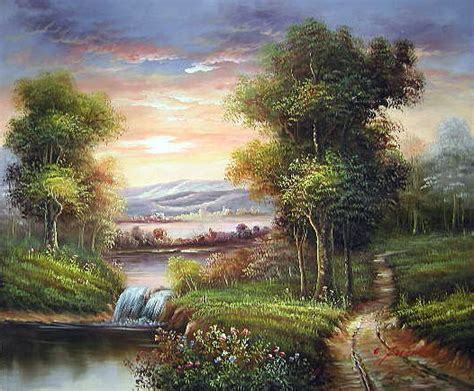 Landscape Paintings European Yessy Gt A Gt Original Paintings Gt European