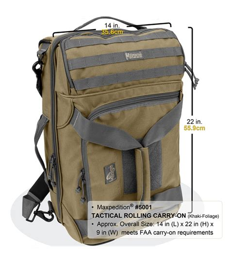 maxpedition carry on maxpedition tactical rolling carry on luggage bag 5001b