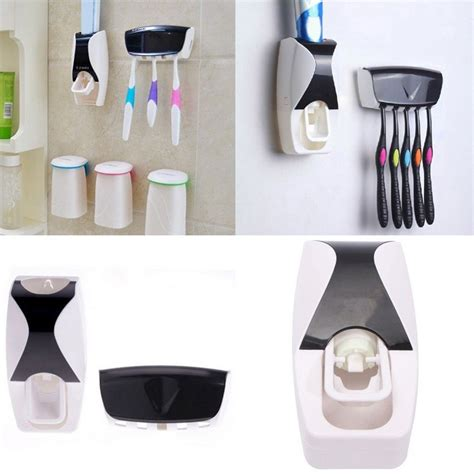 Dispenser Odol Otomatis Dengan Holder Sikat Gigi 1 dispenser odol dengan holder sikat gigi black jakartanotebook