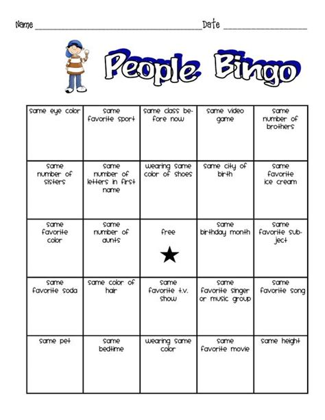 printable games for young adults people bingo for kids wishing well pinterest bingo