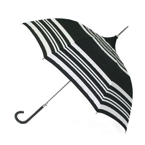 Umbrella Creme black pagoda umbrella with stripes by molly marais