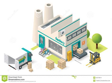 Workshop Building Plans by Vector Isometric Factory Stock Vector Illustration Of