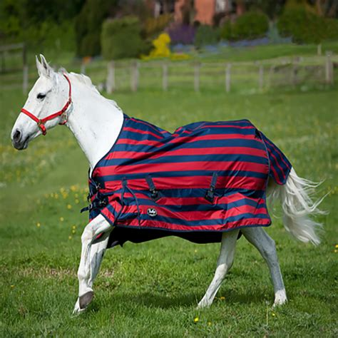 pony lightweight turnout rugs gallop lightweight stripe pony turnout rug navy