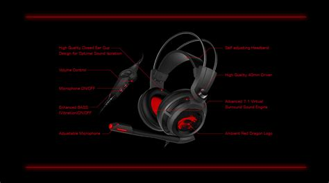 Msi Ds502 Gaming Headset msi ds502 gaming headset 11street malaysia speakers