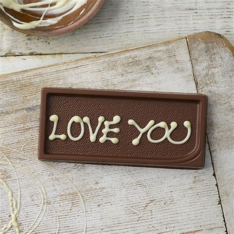 personalised milk chocolate gift tag personalised