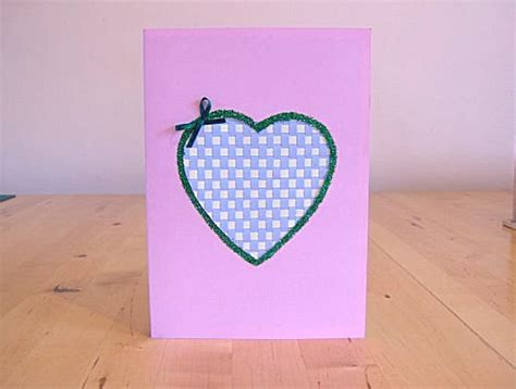 How To Make A Card With Paper - things to make and do make a greetings card by weaving paper