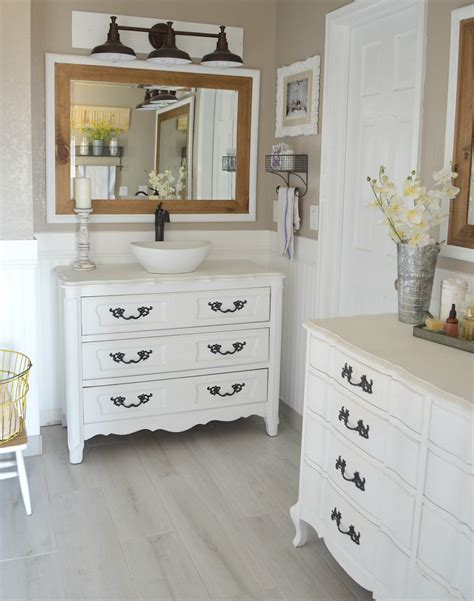 painted vanities bathrooms honest review of my chalk painted bathroom vanities