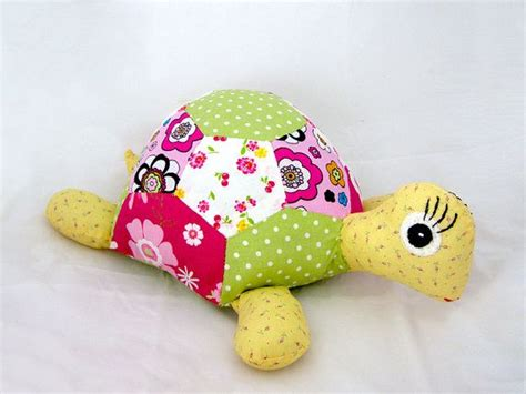 Patchwork Stuffed Animals - turtle patchwork turtle sewn stuffed animal by