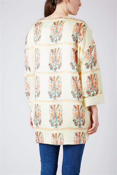 Topshops Owl by Topshop Owl Print Chuck On Jacket In Lyst
