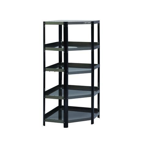 craftsman corner steel shelving unit black platinum