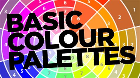 layout basics graphic design graphic design tutorial basic colour palettes youtube