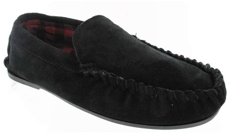 mens moccasin slippers uk new mens leather suede flat sole moccasin warm
