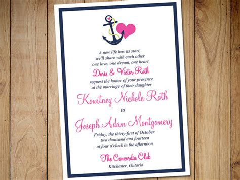 Nautical Invitation Template Orderecigsjuice Info Anchor Wedding Invitation Templates