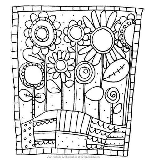 flower doodle coloring pages homegrown hospitality do your brain a favor