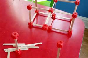 Craft Kids - popsicle stick city capitol with 3d printed connectors diy