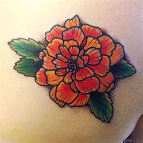 zinnia tattoo designs 50 phenomenal marigold flower tattoos