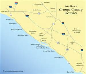 map of california beaches huntington directions