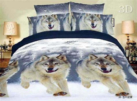 Wolves Bedding Set Wolf Bedding Sets Free Shipping Snow Wolf Comforter Bedding Set Comforters Sets