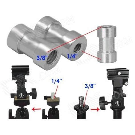 tripod to light stand adapter 1 4 to 3 8 threaded tripod adapter to light