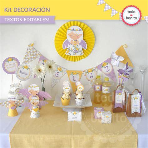decoracion primera comunion varon decoraci 243 n de primera comuni 243 n ni 241 as amarillo y violeta todo bonito