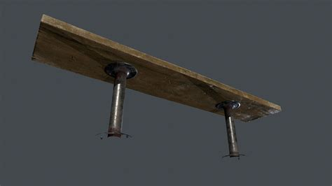 long wooden bench 3d model long wooden bench pbr game ready vr ar low poly obj fbx ma mb