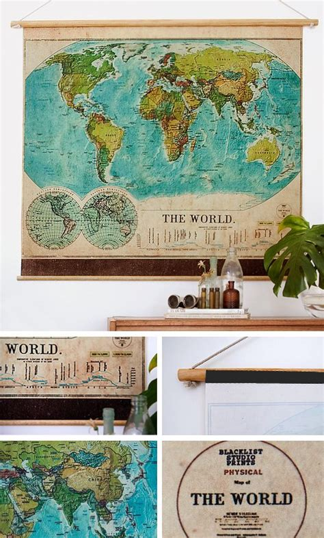 how to hang a map without a frame best 25 vintage world maps ideas on pinterest unique