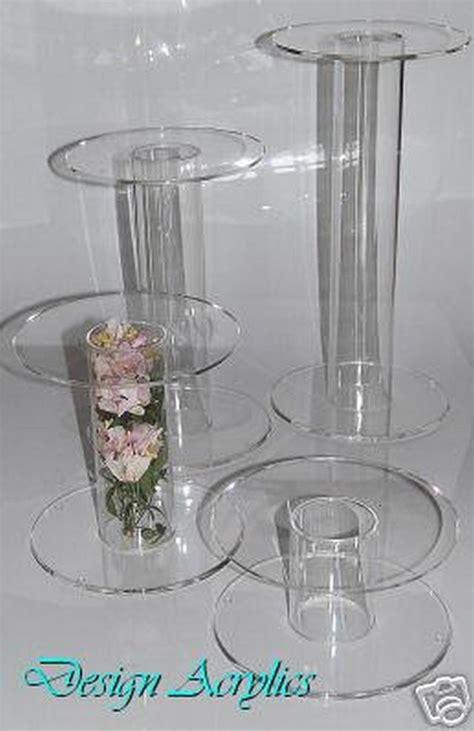 giant acrylic single stem cake stands wedding cascade ebay