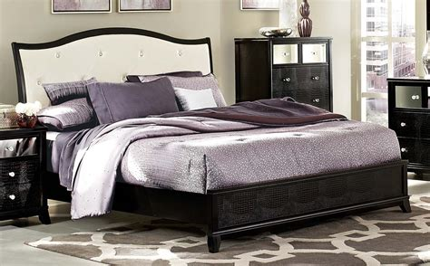 wood and leather headboard homelegance jacqueline upholstered bed faux alligator