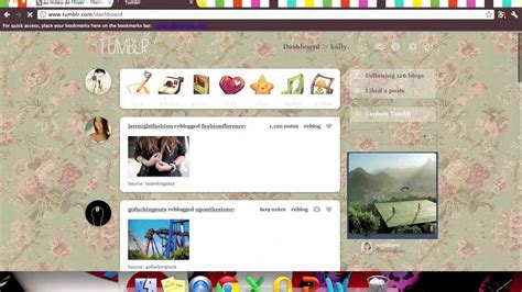 change blog layout tumblr change your tumblr dashboard background youtube