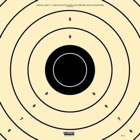 l target b 23 target police match pistol target army l repair