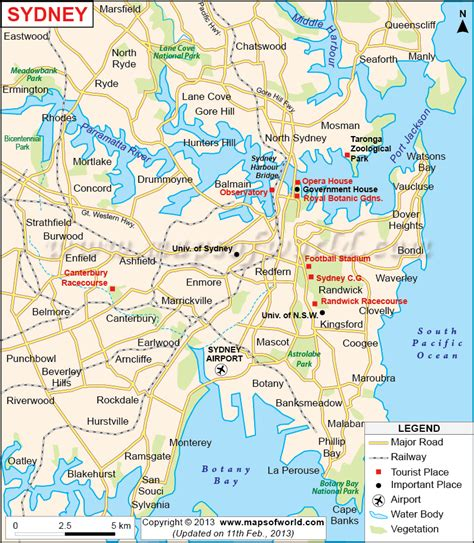 sidney australia map sydney map and images of sydney map citiviu