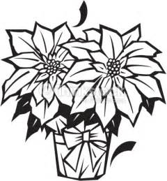 poinsettias clipart in black and white happy holidays