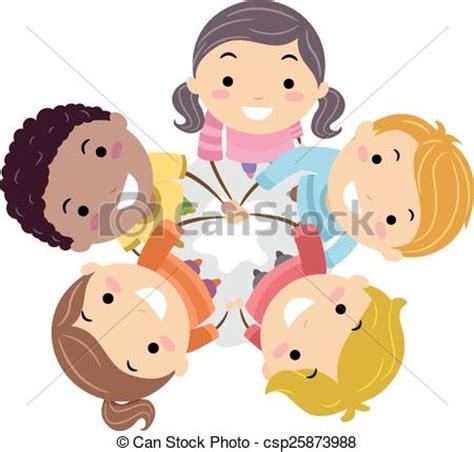 imagenes niños trabajando en equipo vector de equipo ni 241 os stickman manos ilustraci 243 n de