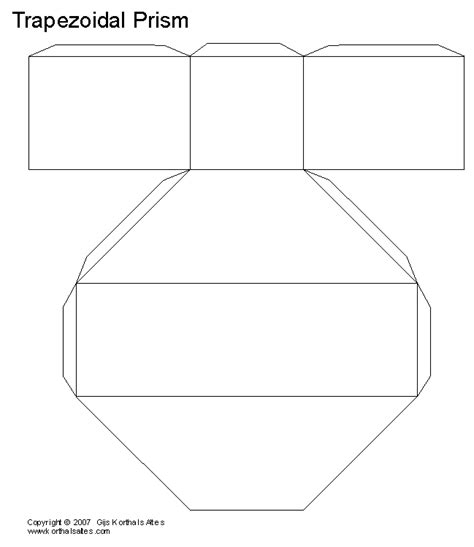 How To Make A Rectangular Prism With Paper - paper trapezoidal prism