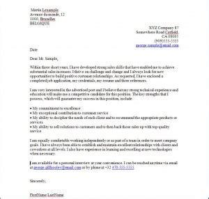 Presentation D Une Lettre Anglaise Exemple De Lettre De Motivation En Anglais Cover Letter
