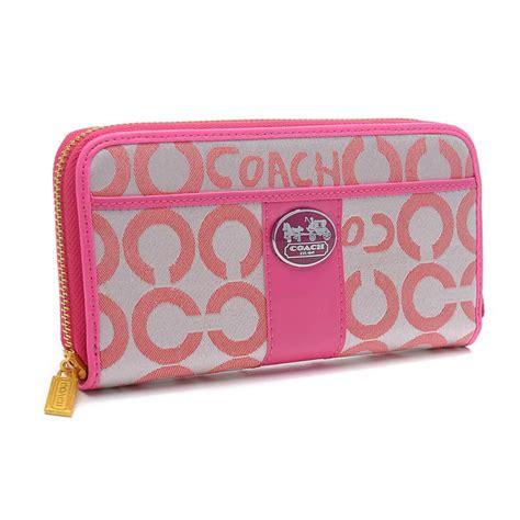 Coach Signature Pink Large discount coach legacy in signature large pink wallets bvu discount sale coach outlet sale