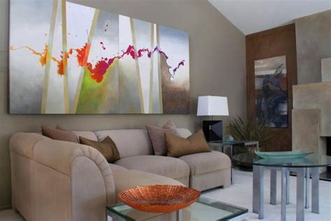 Livingroom Paintings How To Use Abstract Wall In Your Home Without