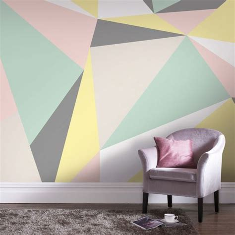 triangle bedroom design 1000 ideas about geometric wall on pinterest stenciled