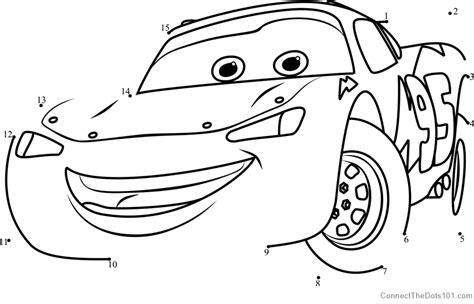 printable dot to dot cars lightning mcqueen from cars 3 dot to dot printable