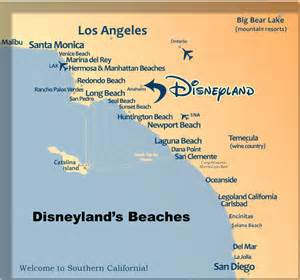 southern california map of beaches anaheim disneyland hotels