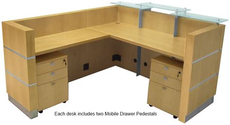 Maple Reception Desk Glasstop Maple Reception L Desk