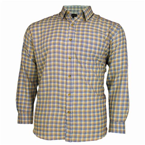 pattern formal shirt mens cotton valley check pattern long sleeve casual formal