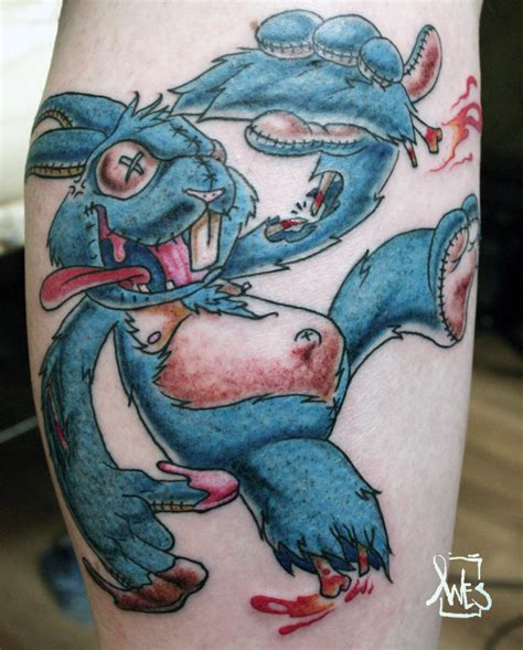 lucky rabbit tattoo pictures by woodard money