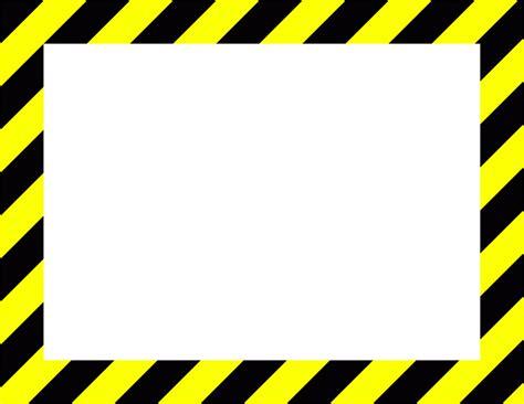 caution border clip clipart collection